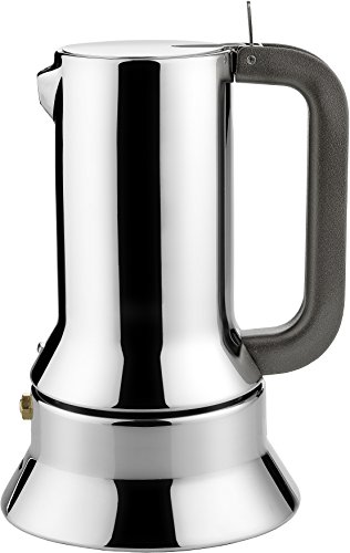 Alessi 9090/6 - Cafetera italiana de acero inoxidable brillo 18/10 con base...