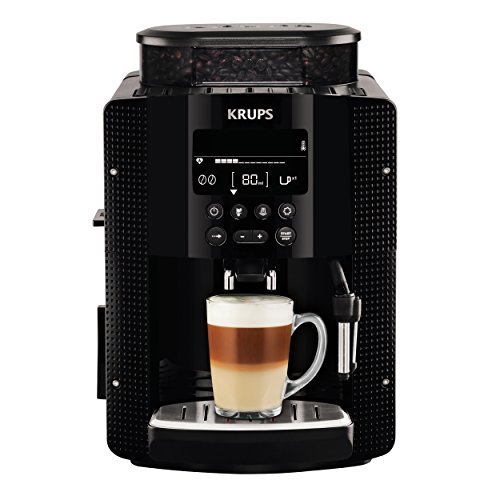 Krups Milano Black - Cafetera súper-automática, con pantalla de control