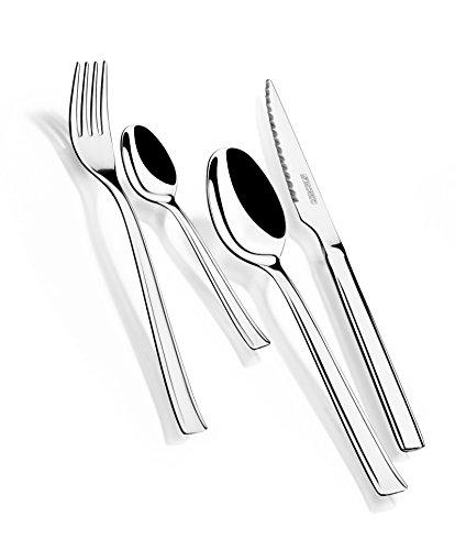 Monix Europa - Set de 24 piezas de acero inoxidable, con cuchillo...