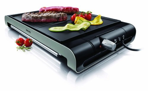 Philips HD4419/20 - Plancha Grill Placa estrías y lisa ,2300 W con termostato ajustable, superficie antiadherente de la placa, color...