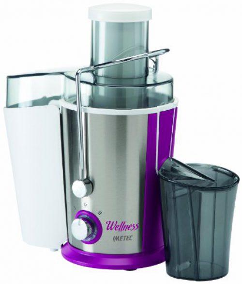 IMETEC Wellness JE Licuadora, 400 W, 1 Liter, 2 Velocidades, Blanco y Violeta