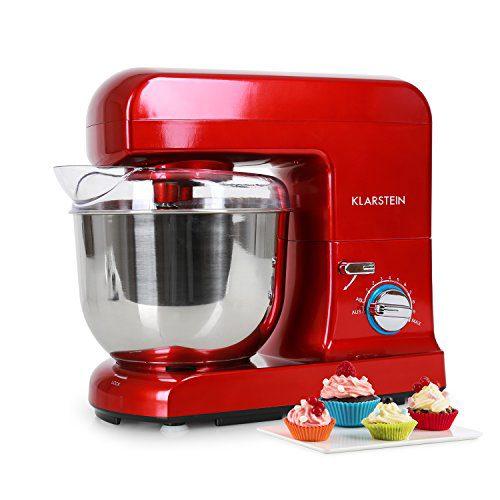 Klarstein Gracia Rossa • Robot de cocina • Batidora • Amasadora • 1000 W • 5 L • 1,3 PS...